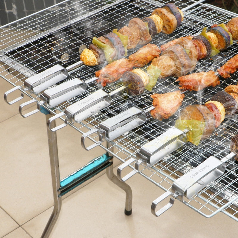 BBQ Barbeque Skewers Needle Stainless Steel Utensil Fork