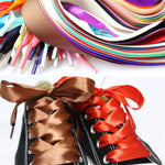 Satin Silk Ribbon Shoelaces 120cm Length Sneaker Sport Shoes Lace Strings