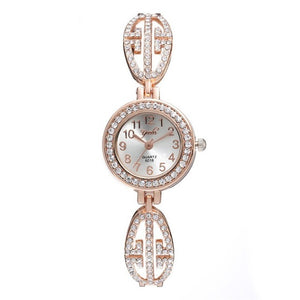 Bracelet Watch Rose Gold Diamond Ladies Watch Clock