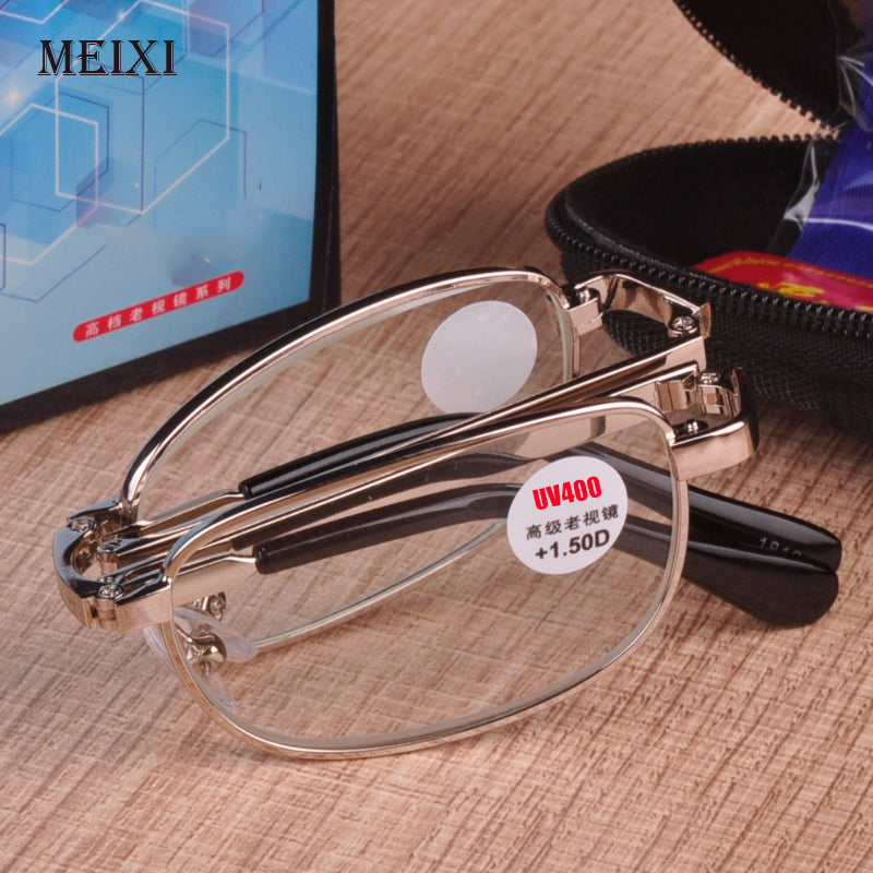 Diopter +1.0 1.5 2.0 2.5 3.0 3.5 4.0 Folding reading glasses UV400 Anti-blue light radiation