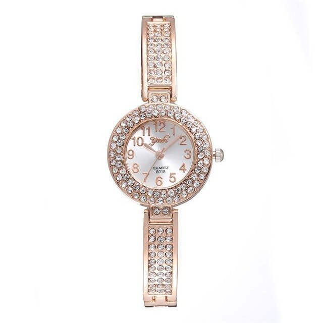 Dainty Bracelet Watch Rose Gold Women's Watches Diamond Ladies Watch Clock