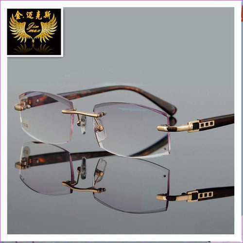 Reading Glasses With Rhinestone Lenses Gray Colour Presbyopia Glasses for Men Women - Reading Glasses