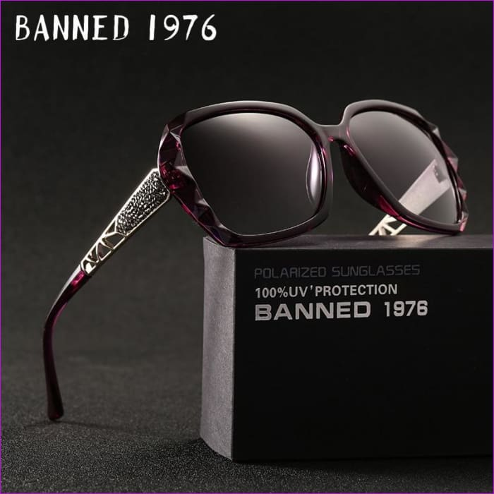 Rhinestone Polarized Sunglasses Elegant Big Sun Glasses - Sun Glasses Sunglasses
