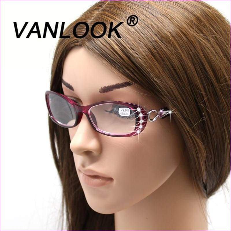 Rhinestone Reading Glasses +50 +75 100 125 150 175 200 225 250 275 375 +450 +500 - Reading Glasses