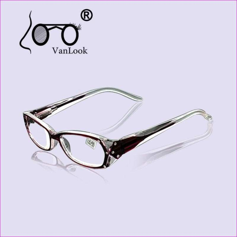 Rhinestone Reading Glasses Fashion +50 +75 100 125 150 175 - thru 400 - Reading Glasses