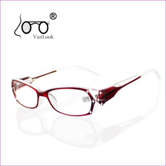 Rhinestone Reading Glasses Women Eyeglass Frames Fashion Spectacles +50 +75 100 125 150 175 200 250 300 350 400 - Reading Glasses Reading