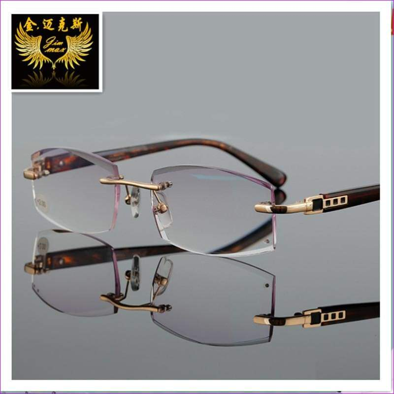 Rimless Reading Glasses With Rhinestone Lenses Gray Colour Presbyopia - Reading Glasses