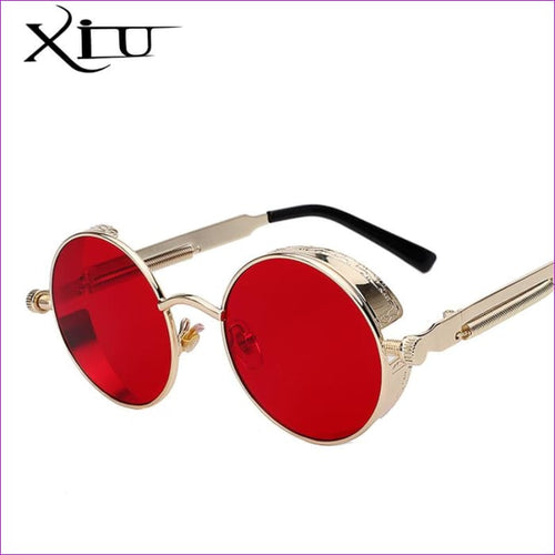 Round Metal Sunglasses Steampunk Men Women Fashion Glasses Brand Designer Retro Vintage Sunglasses UV400 - Mens Sunglasses Mens Sunglasses