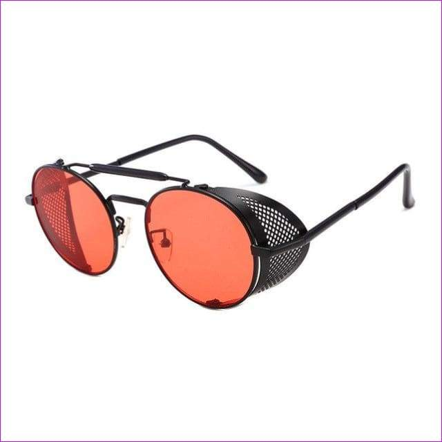 65b619c874217 Round Metal Sunglasses SteamPunk Style Side Mesh Glasses Shades UV  Protection - C6 - Sun Glasses