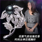 Silver 57mm*42mm Brooches leaf pearl Flowers Brooch pins Simple design for women - see chart 6 - Brooch