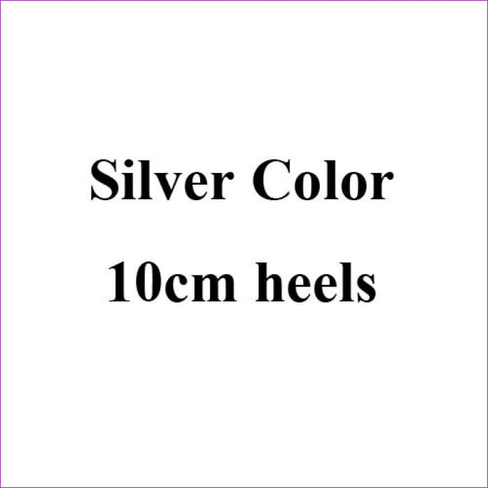 Silver Crystal Wedding Shoes Handmade Small Rhinestone Platform Bridal Shoes with Purple Crystal Rose - Silver 10cm Heels / 4 - High Heel