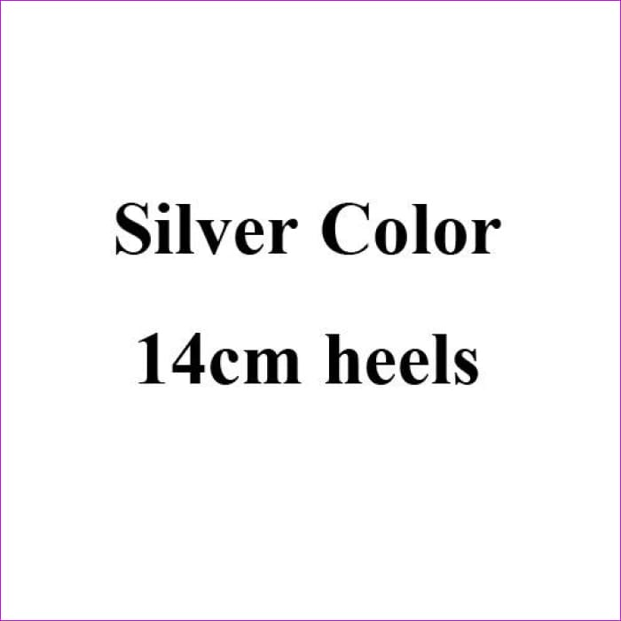 Silver Crystal Wedding Shoes Handmade Small Rhinestone Platform Bridal Shoes with Purple Crystal Rose - Silver 14cm Heels / 4 - High Heel