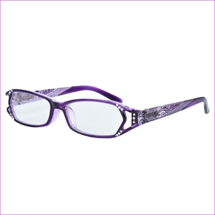 Spring Hinge Reading Glasses With Rhinestone +1 +1.5 +1.75 +2 +3 +4 - Reading Glasses Reading Glasses