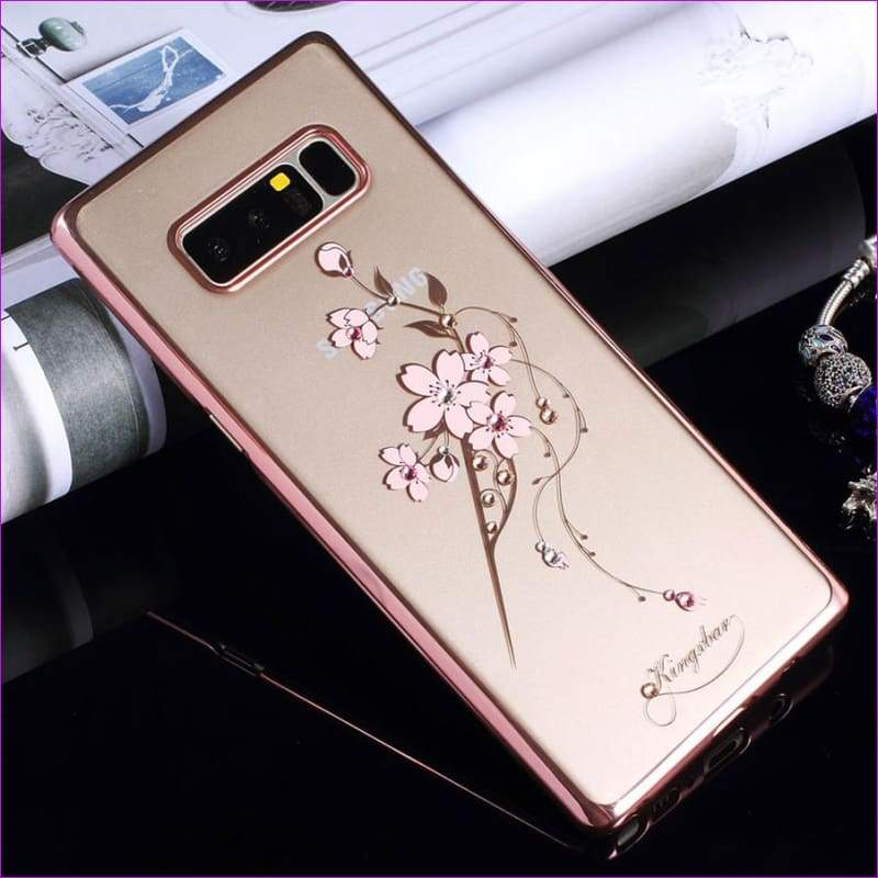 Swarovski Element Crystal Diamond Flower Rhinestone Case for Samsung Galaxy Note 8 Cover - Cell Phone Covers