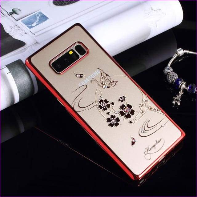 Swarovski Element Crystal Diamond Flower Rhinestone Case for Samsung Galaxy Note 8 Cover - F - Cell Phone Covers