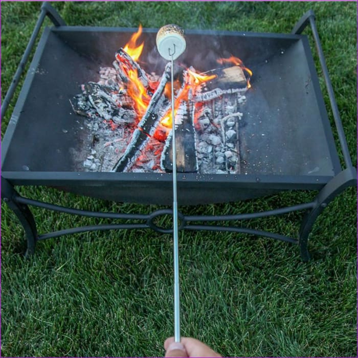 Telescoping Roasting Fork Sticks Skewers BBQ forks 5pcs Marshmallow Hot Dog - BBQ Cooking Home Decor