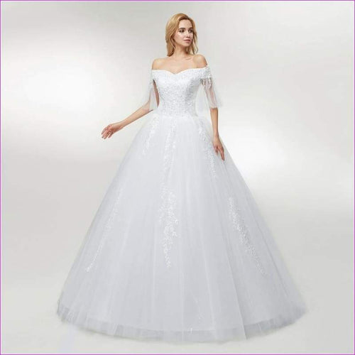 Tulle Mariage Lace Ball Gowns Wedding Dress Custom-made Plus Size Bridal - Bridal Dresses