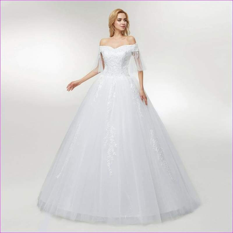 Tulle Mariage Lace Ball Gowns Wedding Dress Custom-made Plus Size Bridal