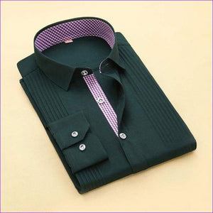 Tuxedo Shirt S-4XL Men Dress Shirts High Quality Male Long Sleeve Three Dimensional - 9 / Asian Size S - Tuxedo Shirts