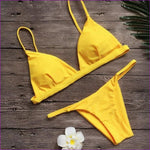 Vertvie Solid Women Sexy Swimsuits Strapless 2 Piece Beach Swimming Suits 2018 Brazilian Biquini Push Up Bikini Sets Female New - yellow / S
