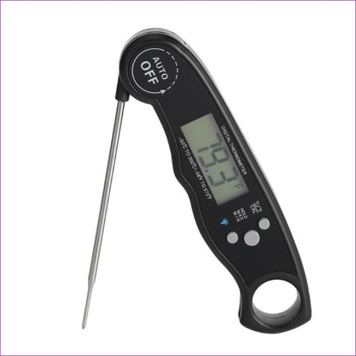 Waterproof Digital Food Meat Thermometer Baking BBQ Thermometer Kitchen Gadget - Black - BBQ Cooking BBQ Accessories
