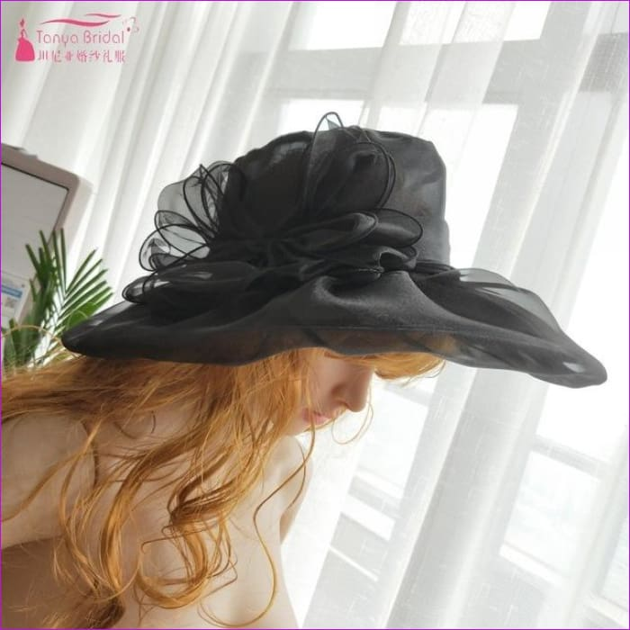 Wedding hats for brides diameter 31 cm Evening Hats formal hair-accessories - Black - Bridal Hats Bridal Hats cf-color-black cf-color-blue