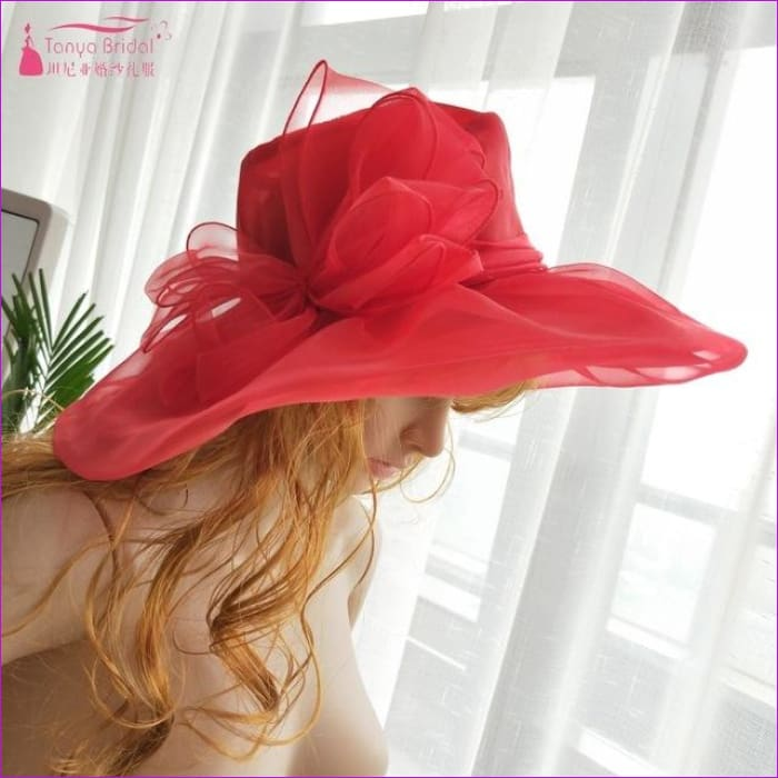Wedding hats for brides diameter 31 cm Evening Hats formal hair-accessories - Red - Bridal Hats Bridal Hats cf-color-black cf-color-blue