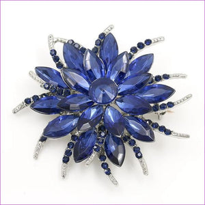 WEIMANJINGDIAN Beautiful Assorted Colors Crystal Daisy Flower Fashion Brooch Pins for Women - 7938 BLUE - Brooch Brooch