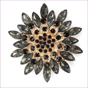 WEIMANJINGDIAN Beautiful Assorted Colors Crystal Daisy Flower Fashion Brooch Pins for Women - black - Brooch Brooch