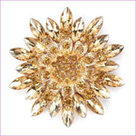 WEIMANJINGDIAN Beautiful Assorted Colors Crystal Daisy Flower Fashion Brooch Pins for Women - coffee - Brooch Brooch
