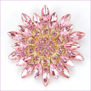 WEIMANJINGDIAN Beautiful Assorted Colors Crystal Daisy Flower Fashion Brooch Pins for Women - pink - Brooch Brooch