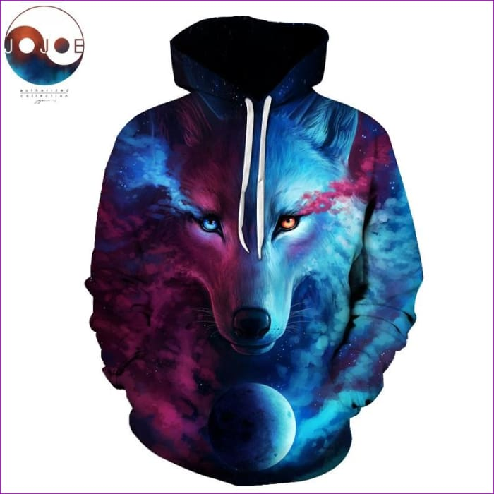 Where Light And Dark Meet Wolf 3D Hoodies Sweatshirts Men Women Hoodie Casual Tracksuits - Hoodies cf-color-lms050 cf-size-4xl cf-size-5xl