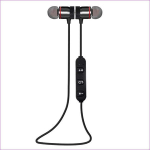 Wireless Bluetooth 4.1 Outdoor Sport Earphone - black - Wireless Electronics