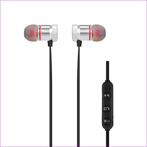 Wireless Bluetooth 4.1 Outdoor Sport Earphone - Silver - Wireless Electronics
