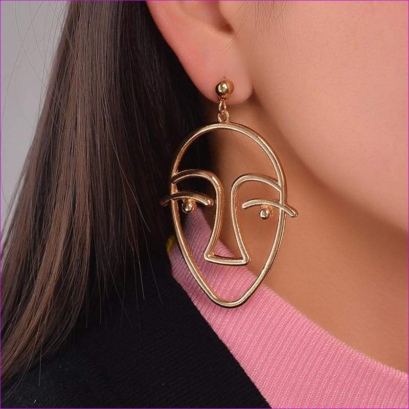 Women Charm Dangle Drop Earrings Gold Chain Jewelry Gift GD - Gold / one-size - Drop Earrings