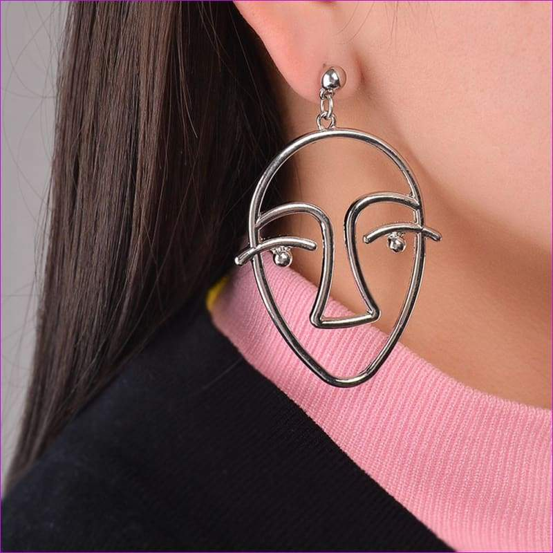 Women Charm Dangle Drop Earrings Gold Chain Jewelry Gift GD - Silver / one-size - Drop Earrings
