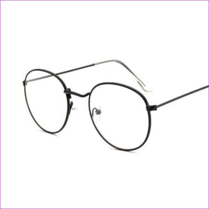 Women Glasses Frame Men Eyeglasses Frame Vintage Round Clear Lens Transparent Sun Glasses Frame Women - Black - Sun Glasses Sun Glasses