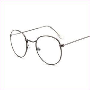 Women Glasses Frame Men Eyeglasses Frame Vintage Round Clear Lens Transparent Sun Glasses Frame Women - Gun - Sun Glasses Sun Glasses