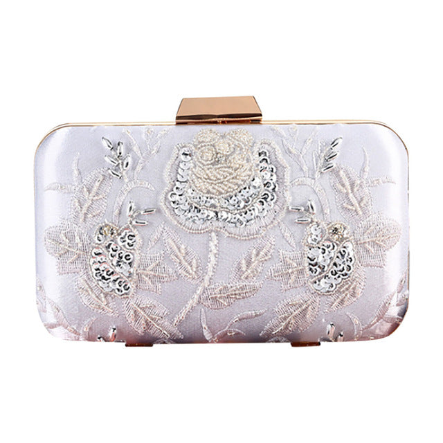 Sequined Clutch Evening Bags Bling Day Clutches Gold Wedding Purse F