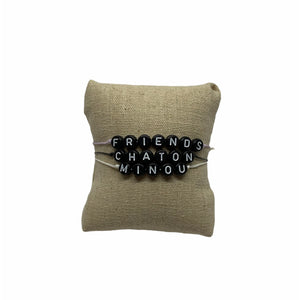 Bracelet MESSAGE - Pompons et Coquillages