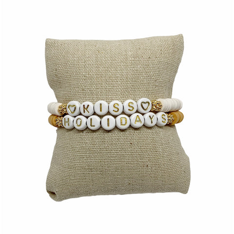 Bracelet GOLDEN - Pompons et Coquillages