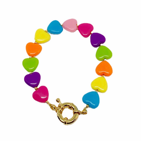 Bracelet CANDY - Pompons et Coquillages