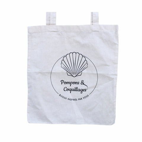 Tote bag Pompons & Coquillages - Pompons et Coquillages