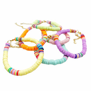Bracelet SUNRISE - Pompons et Coquillages