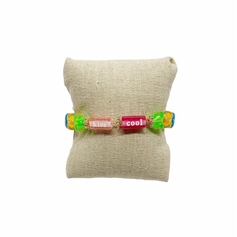 Bracelet PLEASURE - Pompons et Coquillages