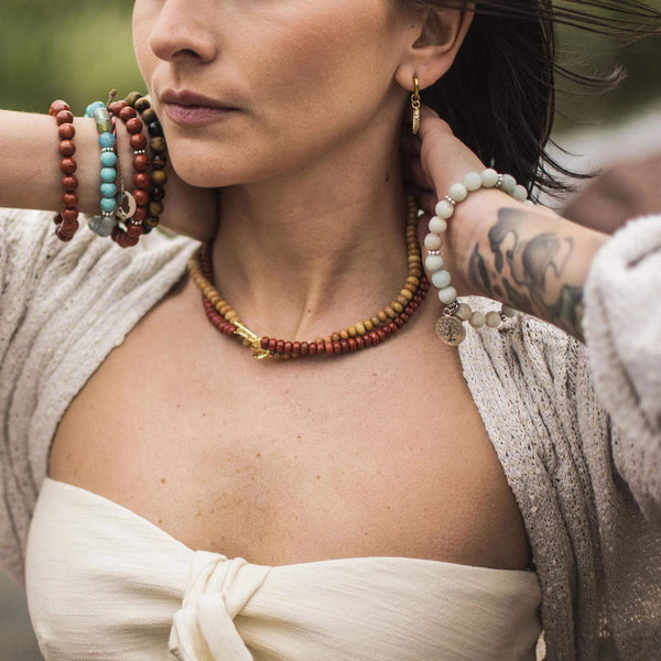 Collier MYSTIC - Pompons et Coquillages