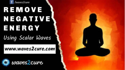 Remove negative energy from body using scalar waves