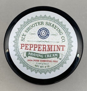 Shaving Cream - Peppermint - Six Shooter Shaving