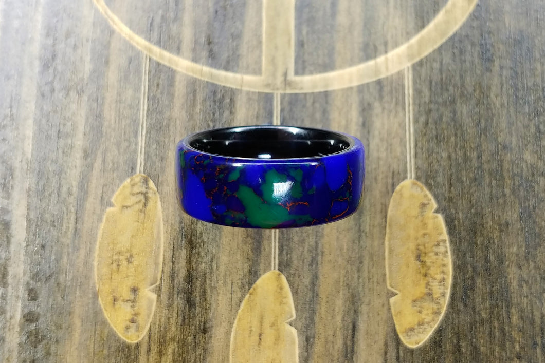 Azurite Malachite TruStone - Black Ceramic core