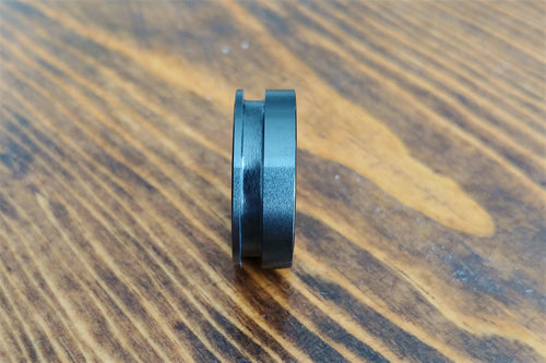 8mm Black Ceramic - Off Centered Inlay